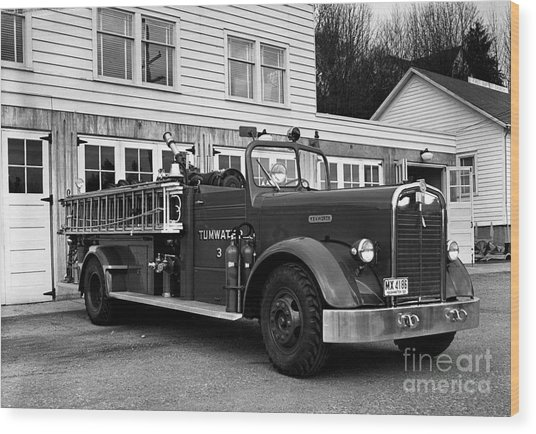 Tumwater Fire Truck Wood Print