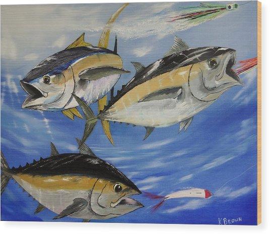 Tuna Attack Wood Print