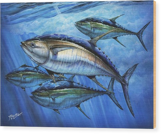 Tuna In Advanced Wood Print