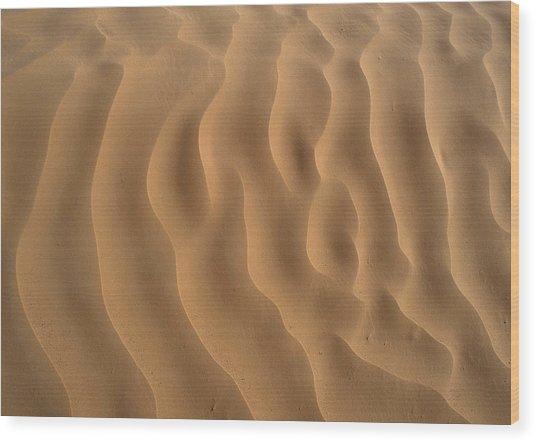 Tunisia, Sahara Desert, Ripples In Sand. Wood Print by James Hardy