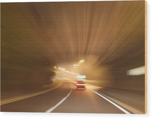 Tunnel 1704-51 Wood Print by Deidre Elzer-Lento