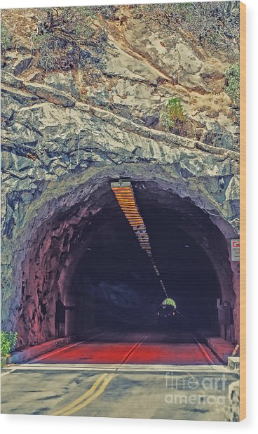 Tunnel At Yosemite Wood Print