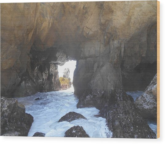 Tunnel Wood Print