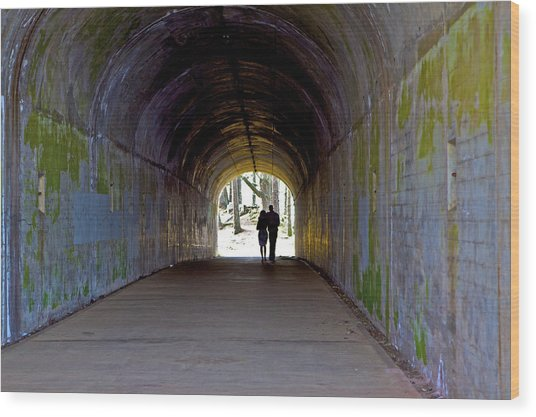 Tunnel Of Love Wood Print