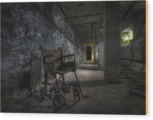 Tunnel Seating Wood Print