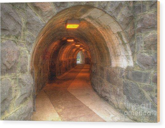 Tunnel Through It Wood Print