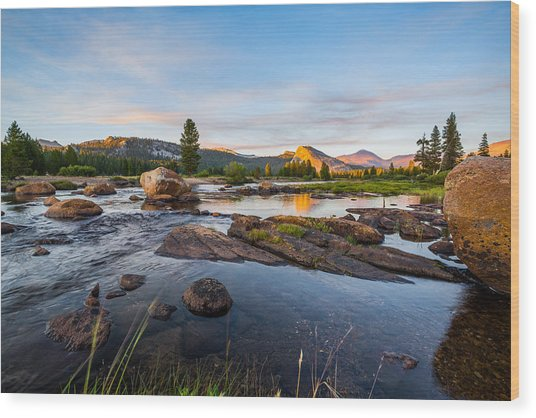 Tuolumne River Wood Print