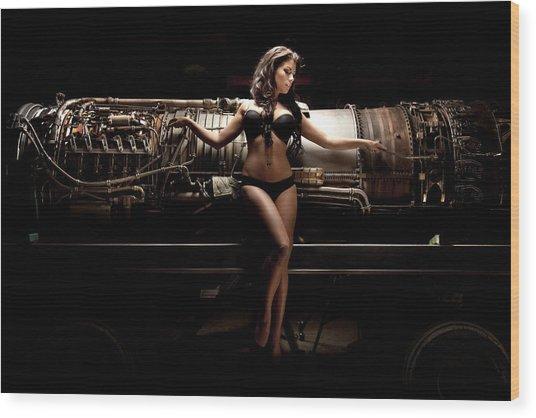 Turbine 7 Wood Print
