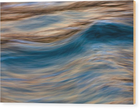 Turbulence Water And Color  73a9760 Wood Print