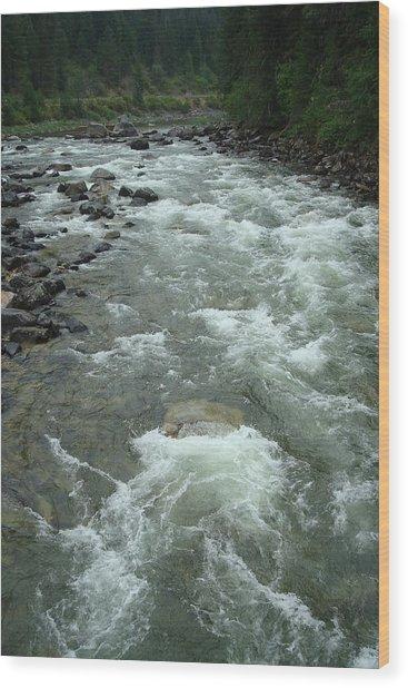 Turbulent Lochsa River Wood Print