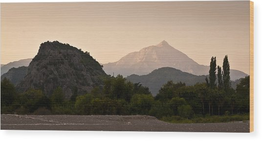 Turkish Mountains Wood Print