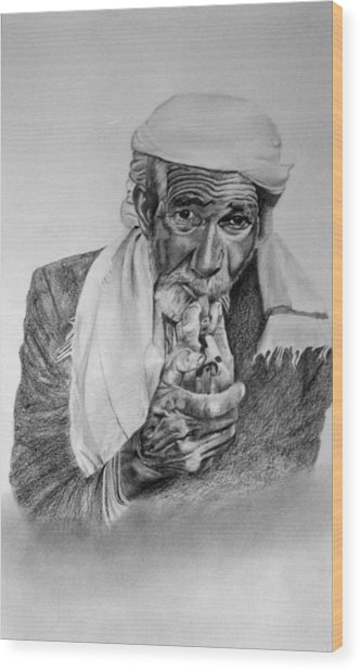 Turkish Smoker 2 Wood Print