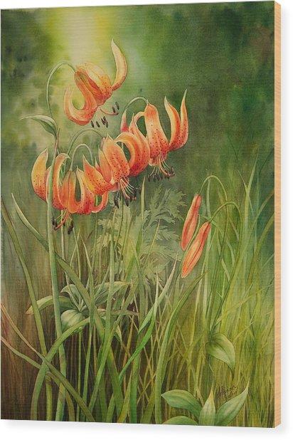 Turk's Cap Lilies Wood Print