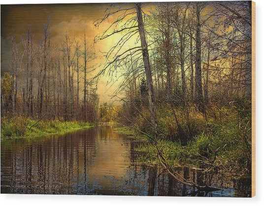 Turn Of Dawn Wood Print