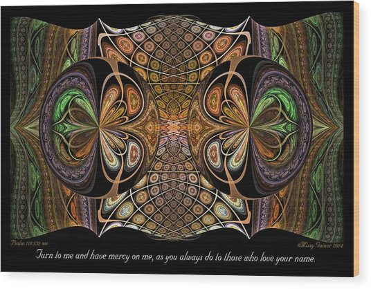 Wood Print featuring the digital art Turn To Me by Missy Gainer