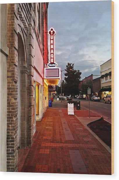 Turnage Theater Grand Opening Wood Print