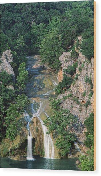 Turner Falls, Arbuckle Mountains Wood Print by John Elk