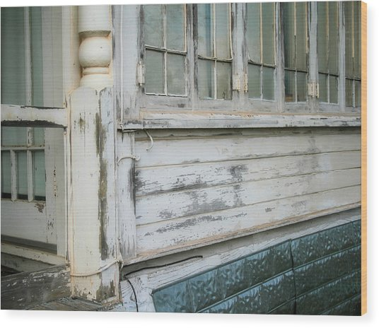 Think Back Wood Print by Paulette Maffucci