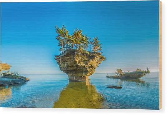 Turnip Rock Wood Print