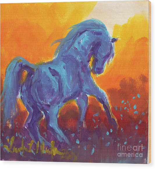 Turquois Stallion Wood Print