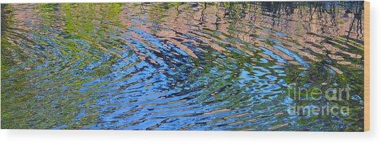 Turquoise Luminesence Wood Print
