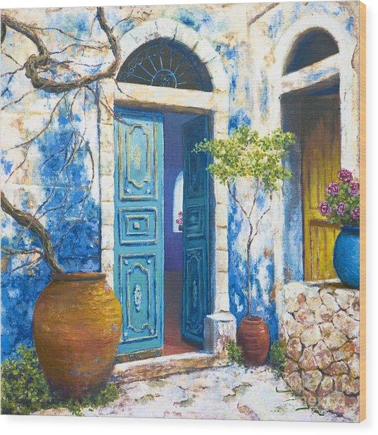 Turquoise Wood Print