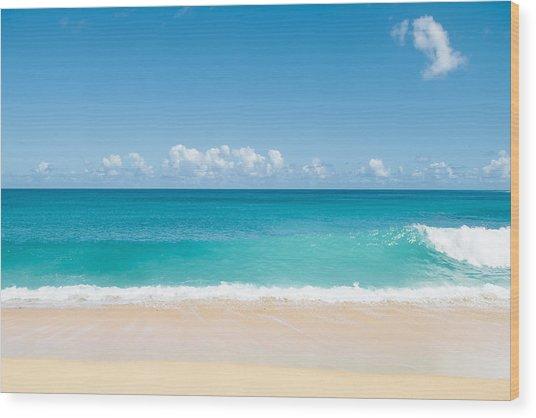 Turquoise Wave Wood Print