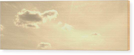 Turtle Cloud Bliss Wood Print