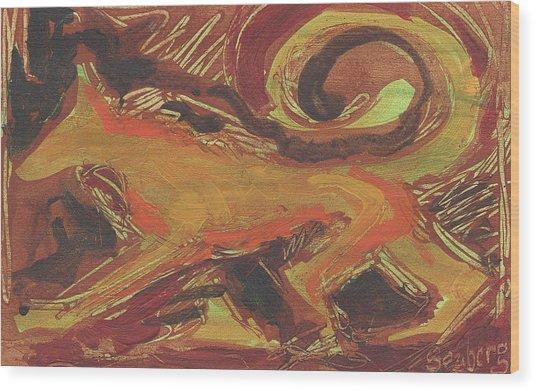 Tusany Dog Italy Wood Print