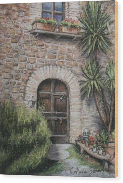 Tuscan Doorway La Parrina Wood Print