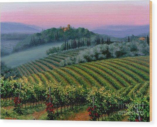 Tuscan Dusk Wood Print