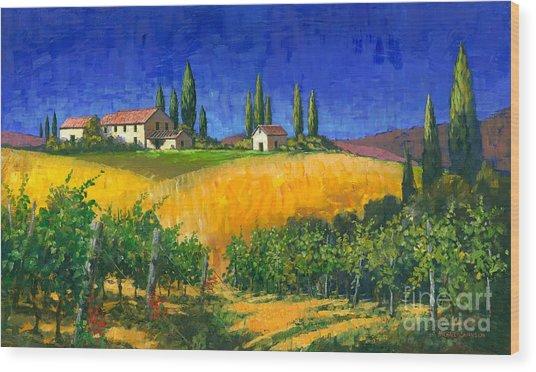 Tuscan Evening Wood Print