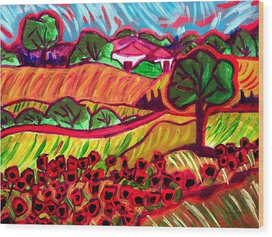 Tuscan Red Wood Print