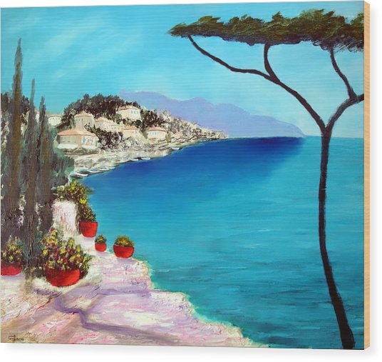 Tuscan Sea Wood Print