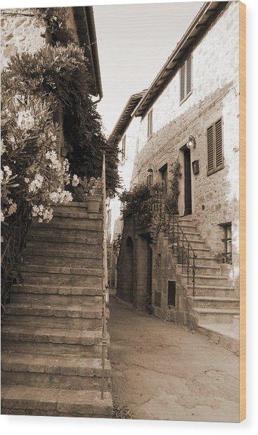 Tuscan Stairways 2 Wood Print