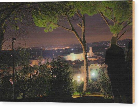 Tuscan View Wood Print