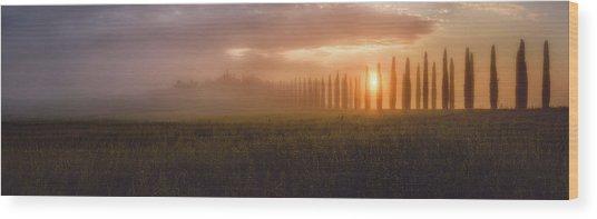 Tuscany Sunrising Wood Print by Javier De La