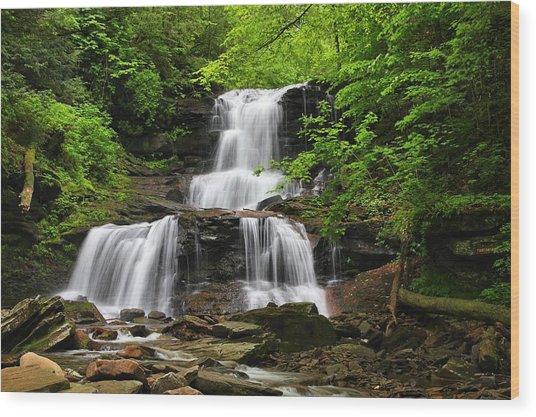 Tuscarora Falls Wood Print