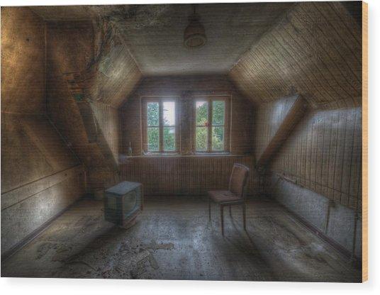 Tv Room Wood Print