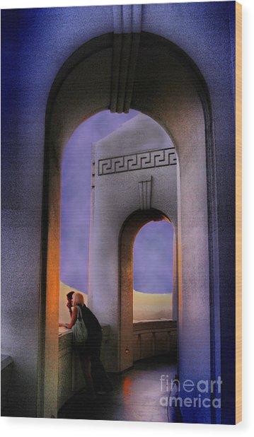 Twilight Arches Wood Print