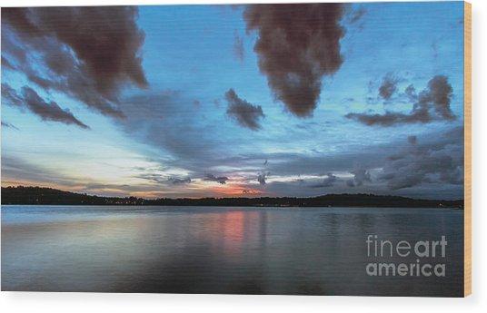 Twilight On Lake Lanier Wood Print