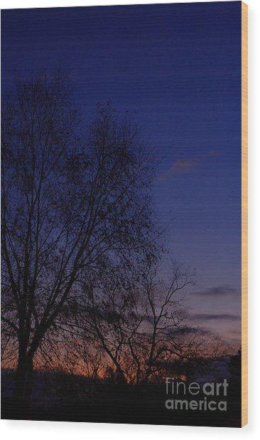 Twilight Crack Of Dawn Wood Print