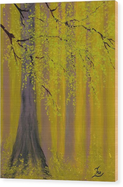 Twilight Forest 1 Wood Print