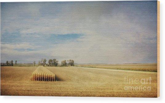 Twilight Harvest Wood Print