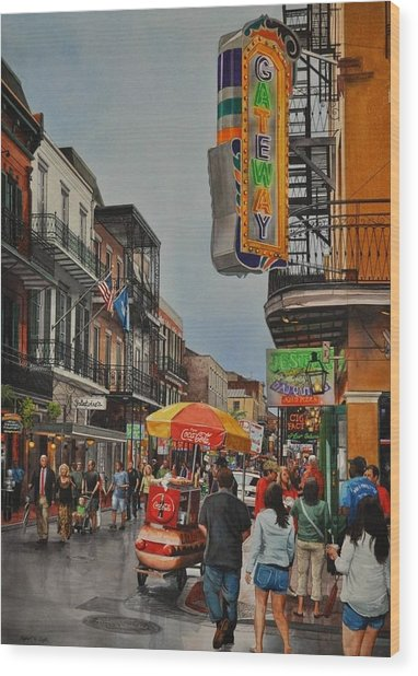 Twilight On Bourbon Wood Print