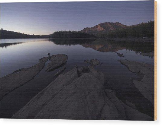 Twilight On Silver Lake Wood Print