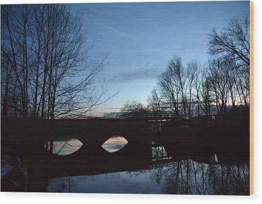Twilight On The Potomac River Wood Print by Bill Helman