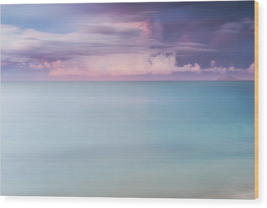 Twilight Over The Atlantic Wood Print