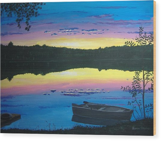 Twilight Quiet Time Wood Print
