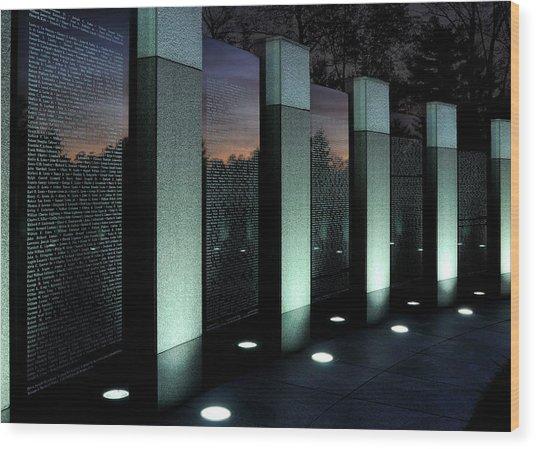 Twilight Reflection Wood Print